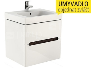 Modo skříňka se 2 zásuvkami pod umyvadlo 60 cm, lesklá bílá