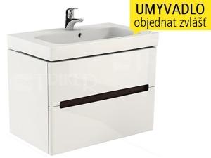 Modo skříňka se 2 zásuvkami pod umyvadlo 80 cm, lesklá bílá