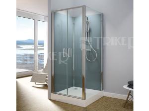 Modul 1400 sprchový box TOPP2 obdelníkový 100 x 80 cm, variatna 3, profil:aluchrom, výplň:čiré sklo