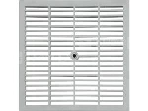 Mříž kanálová Mondial pochůzná 300 x 300 mm, šedá