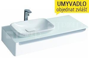myDay skříňka s 1 zásuvkou pod umyvadlo na desku 60 cm levá