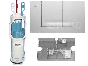 ND Friabloc modernizační set - rámeček, ventil, tlačítko F102 bílé