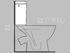 ND Lyra plus klozet kombinační nádrž bez armatury