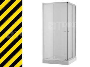 Nestandard Cubito sprchový kout 100 cm stříbrný profil/čiré sklo