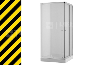 Nestandard Cubito sprchový kout 90 cm stříbrný profil/čiré sklo