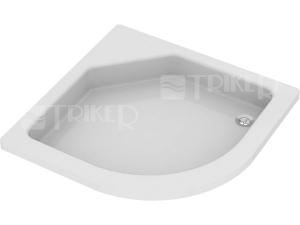 Nestandard Teiko Aries vanička akrylátová 80 x 80 x 11 cm R450, bílá/hladká