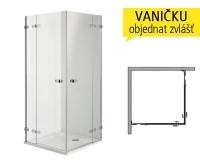 Next sprchový kout čtvercový 80 cm (770-788mm) profil:chrom, výplň:čiré sklo, HKDF80222003, Kolo