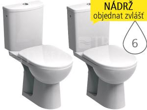 Nova Pro mísa kombinační 39 cm spodní odpad, délka 65,5cm, bílá