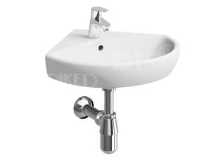 Nova Pro umyvadlo rohové 50 cm s otvorem bílé