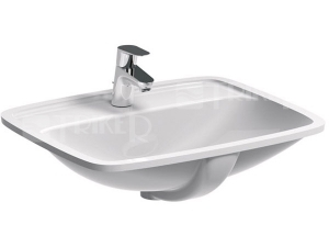 Nova Pro umyvadlo vestavné pravoúhlé 55 x 45 cm s otvorem bílé