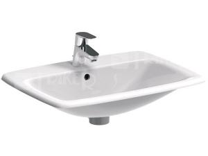 Nova Pro umyvadlo zápustné pravoúhlé 55 x 45 cm s otvorem bílé