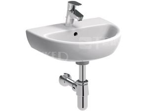 Nova Pro umývátko oválné 45 x 37 cm s otvorem bílé