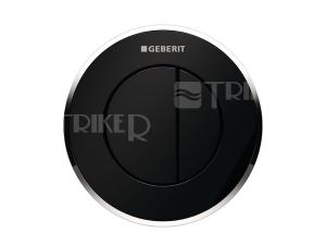 Oddálené ovládání Typ 10 pneumatické podomítkové, černá/lesklý chrom