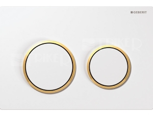Omega20 ovládací tlačítko bílá/pozlacená/bílá