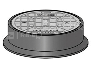 Opti-control poklop šachtový litinový B125 bez větracích otvorů