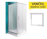 Orlando Neo sprchový kout 800 (780-790mm) profil:brillant, výplň:matt glass, N0654, Roltechnik