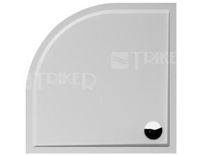 Padana vanička zlitého mramoru čtvrtkruhová R550 90 x 90 x 3 cm bílá