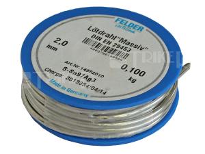 Pájka 220 S-Sn97Ag3 (měkké pájení) 2 mm/100 g
