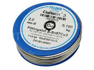 Pájka ST S-Sn97Cu3 (měkké pájení) 2 mm/100 g