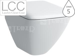 Palace klozet závěsný 49 cm Compact hluboké splachování bílý+LCC