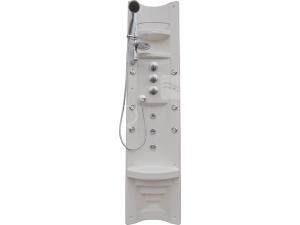 Pamo sprchový panel s pákovou baterií, rohový, bílý