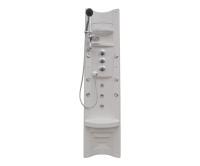 Pamo Therm sprchový panel s termostatickou baterií, rohový, bílý, V261185N65T01021, Teiko