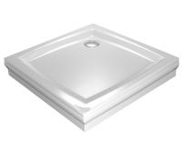 Perseus PP samonosná vanička akrylátová 100 x 100 x 17,5cm, bílá, A02AA01510, Ravak