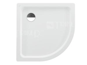 Platina vanička ocelová čtvrtkruhová