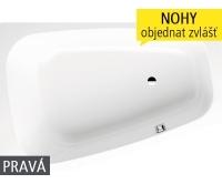 Plaza Duo vana ocelová 3,5 mm 180 x 120 cm 190, pravá, bílá, 237000010001, Kaldewei