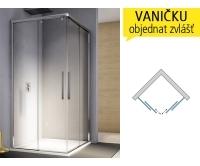 PLSE2 Sprchové dveře rohové pravé 700/2000 profil:bílý,výplň:čiré sklo, PLSE2D0700407, SanSwiss