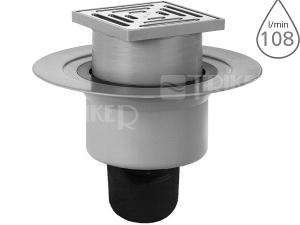 Podlahová vpusť HL317 s izolačním límcem odpad 50/75/110mm se sifonovou vložkou