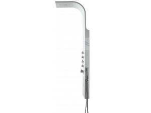 Pontos sprchový panel s termostatickou baterií, nástěnný, hliník/chrom