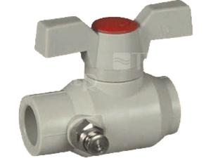 PPR kohout kulový plastový s vypouštěcím ventilem 40 mm