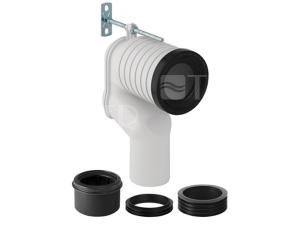 Připojavací souprava pro stojící WC s odpadním kolenem d90
