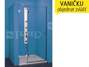 PSDKR sprchové dveře PSDKR 1/90 levé, výplň:čiré sklo