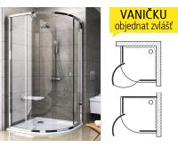 PSKK3 sprchový kout PSKK3-80 R500 (770-795mm) profil:satin/satin, výplň:transparent, 37644U00Z1, Ravak