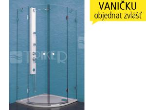 PSKKH sprchový kout PSKKH 2/80 R550 chrom, výplň:čiré sklo