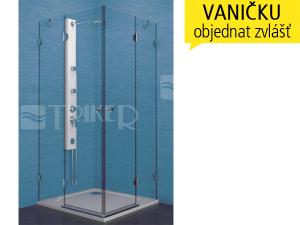 PSKRH sprchový kout PSKRH 2/80 chrom, výplň:čiré sklo