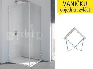 PUE1 Sprchové dveře rohové