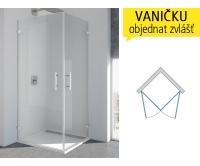 PUE1 Sprchové dveře rohové P do 1000/2000 profil:chrom,výplň:čiré, PUE1DSM11007, SanSwiss