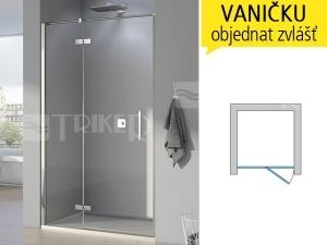 PUR13P Sprchové dveře pravé 1400/2000 vyrovnávací profil, profil:chrom,výplň:čiré