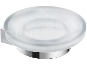 Pure držák se skleněnou mýdlenkou chrom