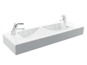 Pure dvojumyvadlo 100 x 34,5 cm s otvorem bílé
