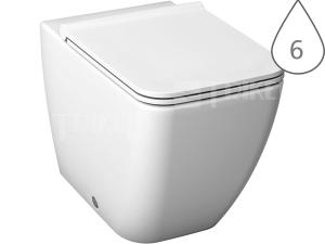 Pure klozet stojící 43cm Vario odpad/hluboké splachování, bílý