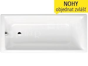 Puro vana ocelová 3,5 mm 170 x 75 cm 652, bílá + Perl-Effekt + celoplošný Antislip