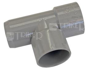 PVC odbočka  32/ 32 90° 2hrdlová