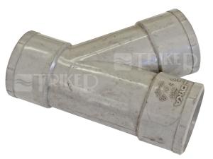 PVC odbočka  32/32mm 45? 3hrdlová
