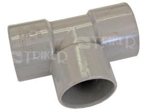 PVC odbočka  32/32mm 90° 3hrdlová
