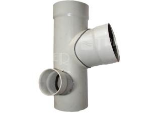 PVC odbočka paneláková 110/110/63mm levá