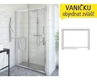 PXD2N sprchové dveře PXD2N/1300 (1280-1330mm), profil:brillant, výplň:transparent, 526-1300000-00-02, Roltechnik